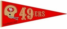 San Francisco 49ers Red Throwback Wool Pennant