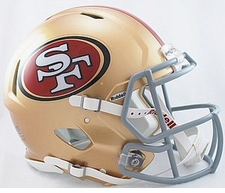 San Francisco 49ers Revolution Speed Riddell Authentic Helmet