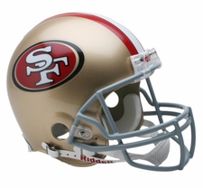 San Francisco 49ers Riddell Full Size Authentic Helmet