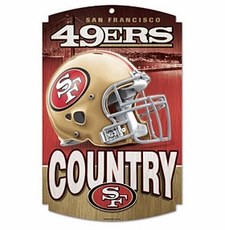 San Francisco 49ers Wood Sign