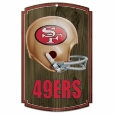 San Francisco 49ers Wood Sign - Throwback