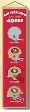 San Francisco 49ers Wool 8x32 Heritage Banner