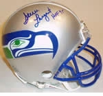 Seattle Seahawks Autographed Football Gear