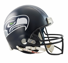 Seattle Seahawks Decal Stripe Riddell Full Size Authentic Helmet