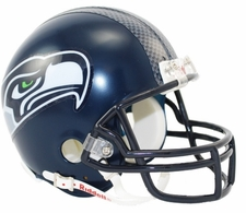 Seattle Seahawks Decal Stripe Riddell Replica Mini Helmet