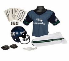 Seattle Seahawks Deluxe Youth / Kids Football Uniform Set
