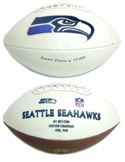 Seattle Seahawks Embroidered Autograph Signature Series Football