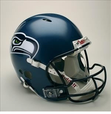 Seattle Seahawks Full Size Riddell Revolution NFL Helmet
