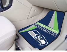 Seattle Seahawks Super Bowl ChampionsCarpet Car Mats 2 Piece Front Set