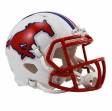 SMU Mustangs Riddell Speed Mini Helmet