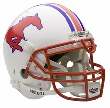 SMU Mustangs Schutt Authentic Full Size Helmet
