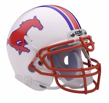 SMU Mustangs Schutt Authentic Mini Helmet
