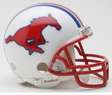 SMU Mustangs White Riddell Replica Mini Helmet