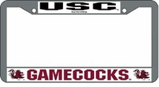 South Carolina Gamecocks Chrome License Plate Frame