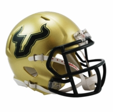 South Florida Bulls Gold Riddell Speed Mini Helmet