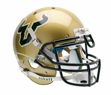 South Florida Bulls Gold Schutt XP Authentic Helmet