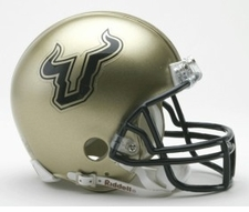 South Florida Bulls Gold Riddell Replica Mini Helmet