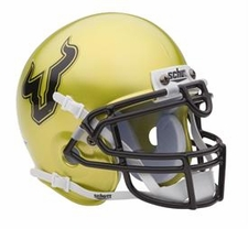 South Florida Bulls Gold Schutt Authentic Mini Helmet