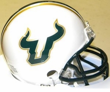 South Florida Bulls White Riddell Replica Mini Helmet