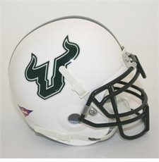 South Florida Bulls White Schutt Authentic Mini Helmet