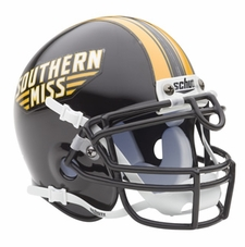 Southern Mississippi Golden Eagles Schutt Authentic Mini Helmet