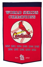 St. Louis Cardinals 24x36 Wool Dynasty Banner