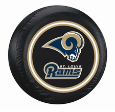 St. Louis Rams Black Large Spare Tire Cover