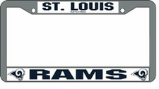 St. Louis Rams Chrome License Plate Frame