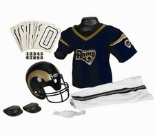 St. Louis Rams Deluxe Youth / Kids Football Uniform Set