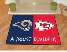 St. Louis Rams - Kansas City Chiefs House Divided Floor Mat
