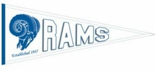 St. Louis Rams Throwback Wool Pennant