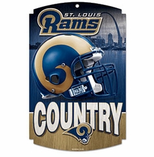 St. Louis Rams Wood Sign