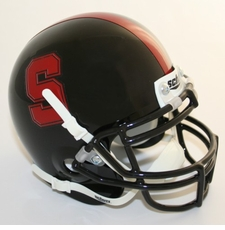 Stanford Cardinal Black Schutt Authentic Mini Helmet