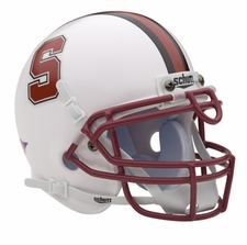 Stanford Cardinal White Schutt Authentic Mini Helmet