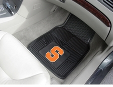 Syracuse Orange 2-Piece Heavy Duty Vinyl Car Mat Set
