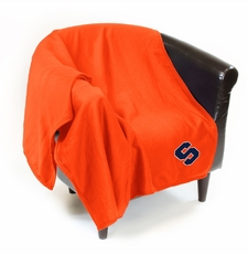 Syracuse Orange Sweatshirt Throw Blanket