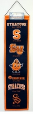 Syracuse Orange Wool 8x32 Heritage Banner