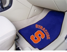 Syracuse Orangemen 2-Piece Carpeted Car Mats Front Set