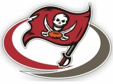 Tampa Bay Buccaneers 12 x 12 Die-Cut Window Film Decal