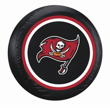 Tampa Bay Buccaneers Black Standard Spare Tire Cover