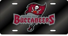 Tampa Bay Buccaneers Laser Cut Black with Buccaneers License Plate