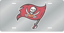 Tampa Bay Buccaneers Laser Cut Silver License Plate