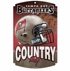 Tampa Bay Buccaneers Wood Sign