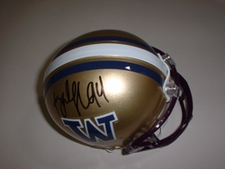 Tank Johnson Autographed Washington Huskies Mini Helmet