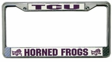 TCU Horned Frogs Chrome License Plate Frame