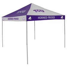 TCU Horned Frogs Purple / White Checkerboard Logo Canopy Tailgate Tent