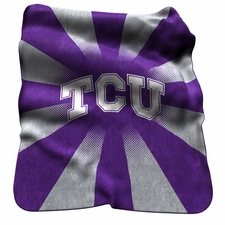 TCU Horned Frogs Raschel Throw
