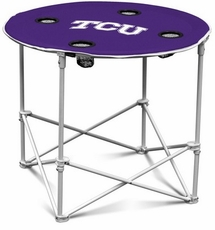TCU Horned Frogs Round Tailgate Table
