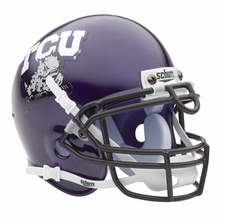 TCU Horned Frogs Schutt Authentic Mini Helmet