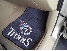 Tennessee Titans Car Mats 2 Piece Front Set